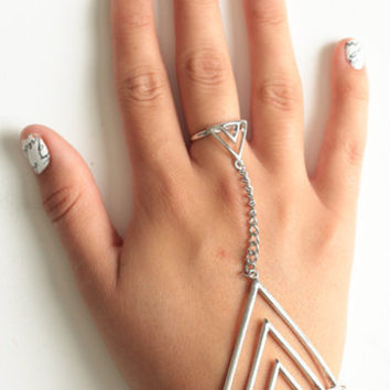 On Edge Handpiece in Silver - $16.00: ThreadSence, Women's Indie & Bohemian Clothing, Dresses, & Accessories