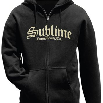 Sublime Hoodie - Sublime Long Beach, CA Logo | Black Hooded Sweatshirt