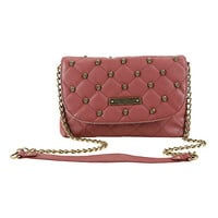 Rock Rebel GG Rose Quilted Skulls Marsala Crossbody Bag