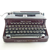 typewriter maroon working vintage christmas gift holiday writer working antique typewriters 1930 1920 1940 smith corona sterling standard