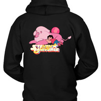Steven Universe With Lion Sleep Hoodie Two Sided