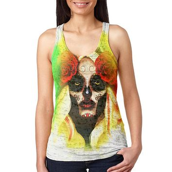 The Day after Cinco De Mayo Juniors Burnout Racerback Tank Top