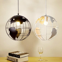 Modern Global Earth Shape Lustre Pendant Lights Living Room Pendant Lamps Restaurant suspension luminaire Home Lighting Fixtures