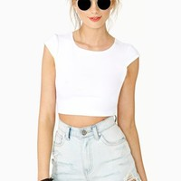 Sweet Persuasion Crop Tee - White