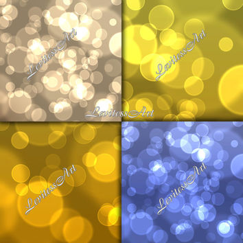 """Bokeh digital paper:""""Shiny bokeh"""" for scrapbooking, invites, cards,web design,jewelry making.Instant Download"""