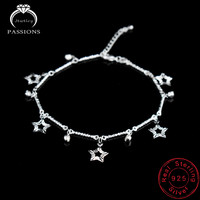 Fashion Foot Anklet 925 Sterling Silver Plate Jewelry Ladies Anklets Bracelet Chain For Women Star Pendant Foot Pulseras Jewelry
