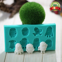 Quality Heat-resistant Food Grade 8 Minions Chocolate Sugar Craft Cake Fondant Silicone Mold Mould Decoration = 5658103169
