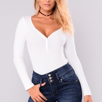 Hayley Henley Top - White