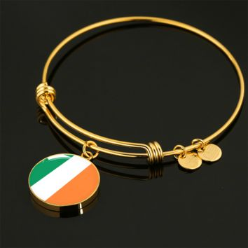 Irish Pride - 18k Gold Finished Bangle Bracelet