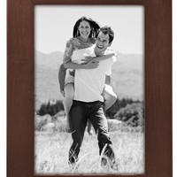 Malden International Designs Linear Classic Wood Picture Frame, Holds 4x6 Picture, Walnut