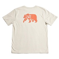 Worn in Bear Short Sleeve Pocket Tee in Grey & Sunrise by The Normal Brand