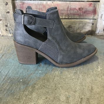 Tobin Buckle Bootie - Grey