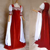 Elven bride dress DALEYA Elf dress of medieval Galadriel Arwen Renaissance