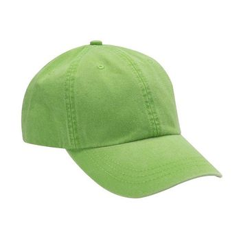 Washed Out Neon Green Dad Hat
