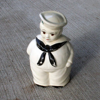 Vintage USA Pottery Sailor Cookie Jar - FREE Shipping