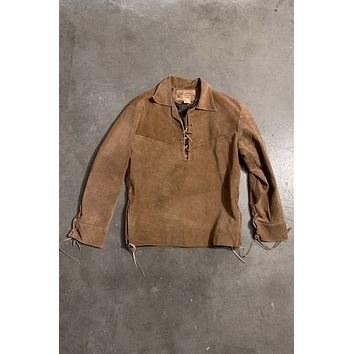 Tusk Suede Leather Mexican Pullover Jacket
