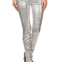 Sequin Pants - Silver