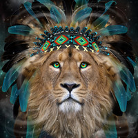 Fight For What You Love (Chief of Dreams: Lion) Tribe Series Art Print by soaring anchor designs ⚓ | Society6