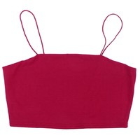 Women's Strap Crop Top Sexy Thin Strap Bandeau Tube Top Hot Vest Cool Strap Tank