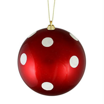 Christmas Ornament - Red And White