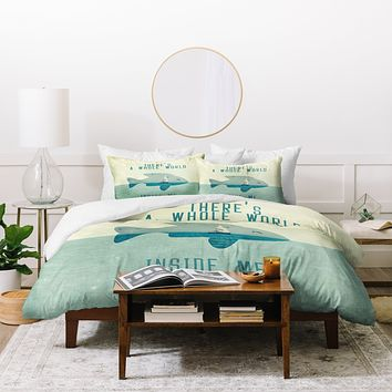 Belle13 There Is A Whole World Inside Me Duvet Cover