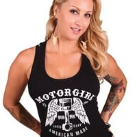 "Women's ""Loud and Fast"" Tank by Motorgirls (Black)"