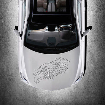 ANIMAL EAGLE BIRD FLAG DESIGN HOOD CAR VINYL STICKER ART DECALS MURALS SV1490