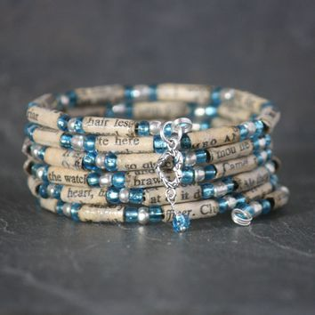 Shakespeare Book Bead Charm Bracelet