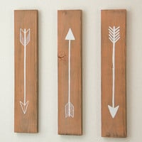 Flying Arrows Wall Decor - 3 Piece Set, SMALL