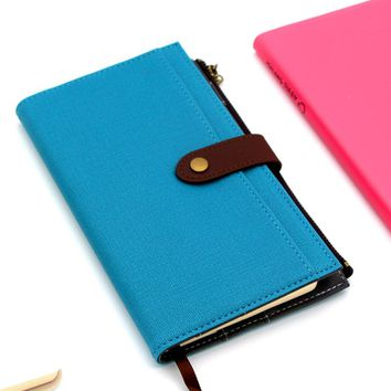 Passion Cute spiral notebook ,leather agenda planner organizer series travell journal /daily plan BK09