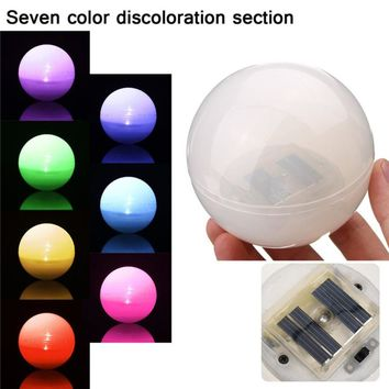 Solar LED Ball 7 Color Changing night Light For Swimming Pool Outdoor Garden Ponds Path Lawn Landscape Yard Floating lights