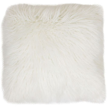 Thro Keller Faux Mongolian Fur Throw Pillow