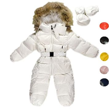 Children Newborn Winter Rompers Duck Down Jumpsuit Kids Clothing Baby Clothes Snow Wear Boy Girl Snowsuit Thicken Warm Coveralls