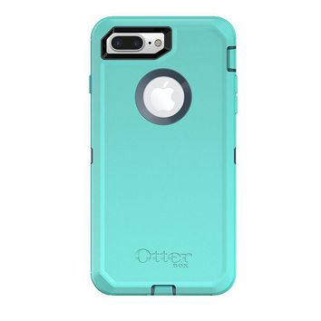DCK4S2 OtterBox DEFENDER SERIES Case for iPhone 8 Plus & iPhone 7 Plus (ONLY) - Frustration Free Packaging - BOREALIS (TEMPEST BLUE/AQUA MINT)