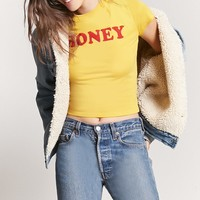 Honey Graphic Cropped Tee