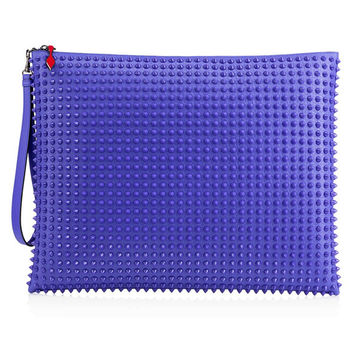 Purple Travel Pouch Hybrid by Christian Louboutin