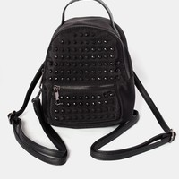 Valentina Studded Backpack - Black