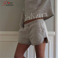 Women's clothing Sets Running Gym Sports 2pcs fitness Top and Elastic Capris long sleeve dress clothes suits sport sets short
