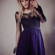 Free People Womens V For Victorian Velvet Mini Dress