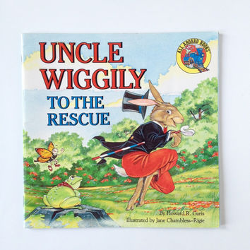 Vintage Uncle Wiggily To The Rescue Children's Book