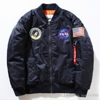 Jacket Men Bomber Ma1 Men Bomber Jackets Nasa Air Force Baseball Military Thin Section Bomber Jacket And Coats