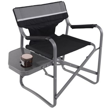 Director's Chair Folding Side Table Outdoor Camping Fishing Cup Holder