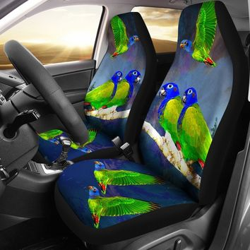 Blue-Headed Parrot (Blue-Headed Pionus) Print Car Seat Covers-Free Shipping