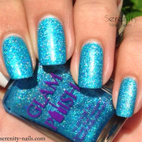 Bye Bye Baby Full Size Handmixed Glitter Indie Nail Polish from the Diamonds are a Girls Best Friend Collection