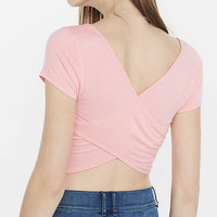 Express One Eleven Cross Back Ballet Tee from EXPRESS