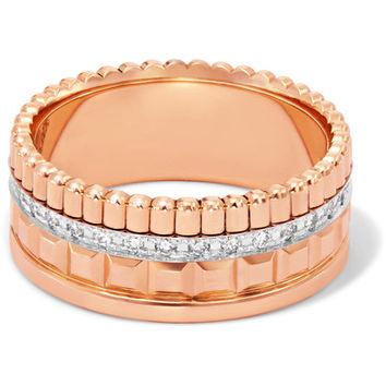 Boucheron - Quatre Radiant Edition Small 18-karat rose and white gold diamond ring