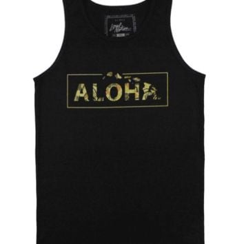 """Local Motion """"Boxed Up"""" Mens Black Tank Top"""