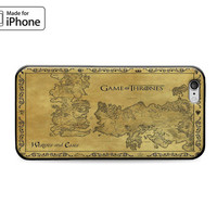 Map of Westeros and Essos Game of Thrones Case for iPhone 6S iPhone 6S Plus iPhone 6 iPhone 6 Plus iPhone 5S iPhone 5 iPhone 5C iPhone SE