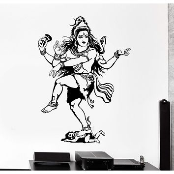 Wall Vinyl Decal Shiva Indian God Hinduism India Home Interior Decor Unique Gift z4147