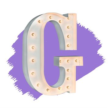 "24"" Letter G Lighted Marquee Letters (White Gloss)"